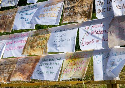 CommunaysART & Jardins 2021 : un mur à mots